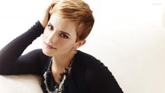 Blondes women emma watson actress short hair Wallpaper