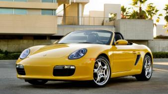 Boxster Yellow Front wallpaper