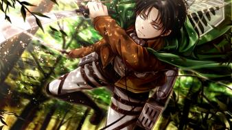 Boys swords black shingeki no kyojin rivaille wallpaper