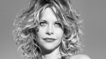 Meg Ryan Grayscale wallpaper
