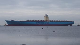 Ocean maersk line container ships wallpaper