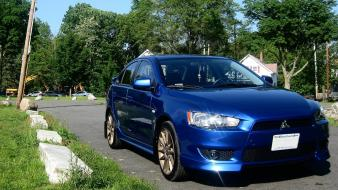 Octane Blue Lancer Gts Front wallpaper