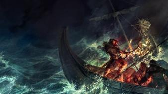 Ships illustrations fantasy art boats artwork sea wallpaper