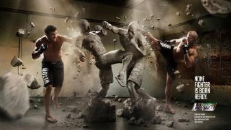Ufc statues artwork photomanipulation wanderlei silva leisure wallpaper