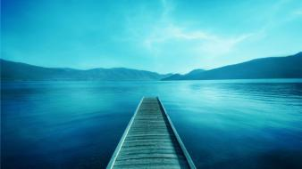 Water landscapes pier Wallpaper