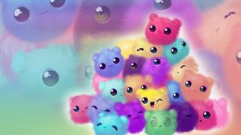Abstract kittens wallpaper