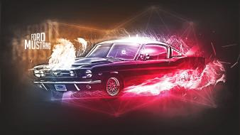 Abstract multicolor cars ford mustang wallpaper