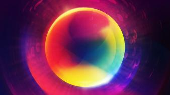 Abstract multicolor purple circles photomanipulation orb marble wallpaper