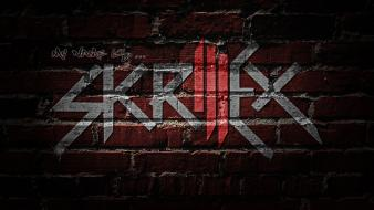 Abstract sonny moore skrillex logo ill wall painting Wallpaper