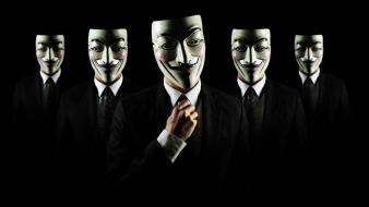 Anonymous masks guy fawkes Wallpaper