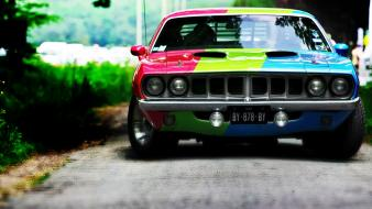 Automotive headlights yuri shopa chameleon muscle car Wallpaper