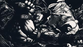 Batman comics fight grayscale bane wallpaper