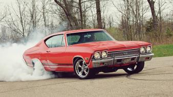 Burnout chevelle ss classic muscle car 1968 wallpaper