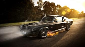 Cars ford mustang shelby gt350 photomanipulation fast crashed Wallpaper