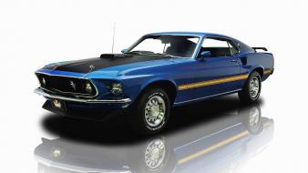 Cars muscle ford mustang mach 1 widescreen 1969 Wallpaper