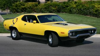 Cars plymouth 1973 roadrunner automotive muscle car wallpaper