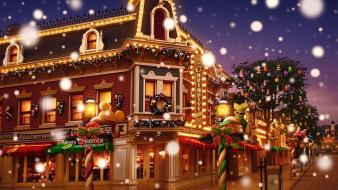 Christmas hong kong disneyland happy days 2010 street Wallpaper
