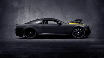 Dark cars chevrolet vehicles camaro ss black concept wallpaper