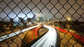 Fences traffic hdr photography cities breaking Wallpaper