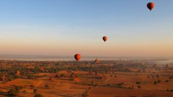 Fields national geographic hot air balloons myanmar Wallpaper