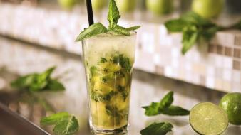 Food alcohol cocktail mint liquor mojito rum wallpaper