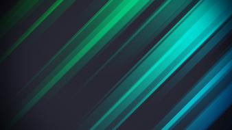Green abstract blue multicolor stripes wallpaper