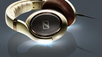 Headphones music white gold sennheiser symphony wallpaper