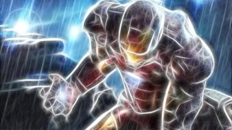 Iron man fractalius marvel comics wallpaper