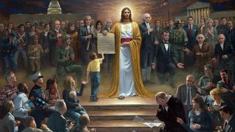 Kennedy ronald reagan george washington patriotic jesus wallpaper