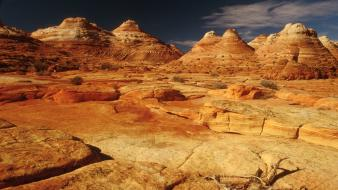 Landscapes nature desert rock formations wallpaper