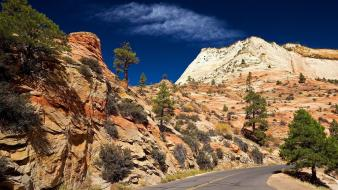 Landscapes nature zion national park Wallpaper