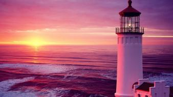 Lighthouses seascapes Wallpaper