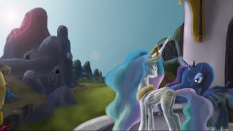 Luna princess celestia crystal empire equestria wallpaper