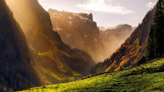 Mountains landscapes nature sunlight Wallpaper