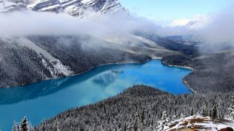 Nature canada alberta national geographic snow lakes wallpaper