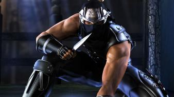 Ninjas men ninja gaiden hayabusa muscular knives Wallpaper