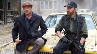 Norris sylvester stallone g36c the expendables 2 wallpaper