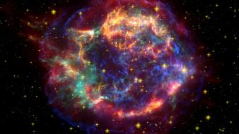 Outer space multicolor stars nasa supernova wallpaper