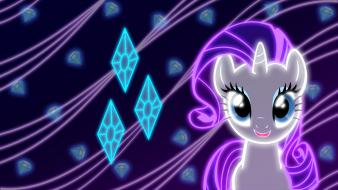 Rarity my little pony: friendship is magic neon Wallpaper