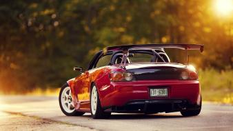 Red honda cars outdoors roads tuning s2000 spoilers Wallpaper
