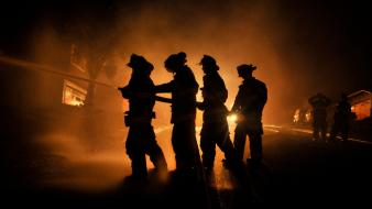 Silhouette national geographic san francisco headlights firemen wallpaper
