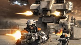 Soldiers video games futuristic mech battlefield 2142 wallpaper