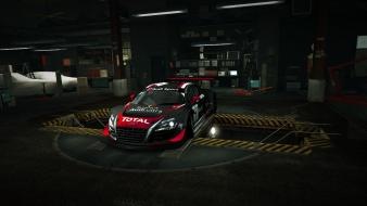 Speed audi r8 racing lms garage nfs Wallpaper