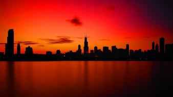 Sunset landscapes cityscapes wallpaper