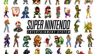 Super nintendo sprites retro games wallpaper