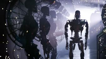 Terminator robots salvation t4 exoskeleton cybernetic wallpaper