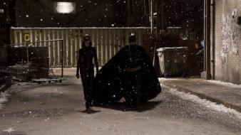 The dark knight rises snowing movie stills wallpaper