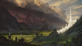 The lord of rings fantasy art warriors wallpaper