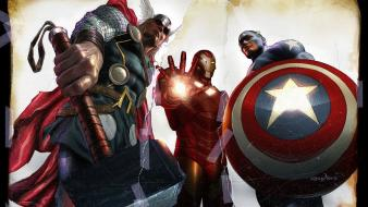 Thor captain america marvel comics the avengers wallpaper