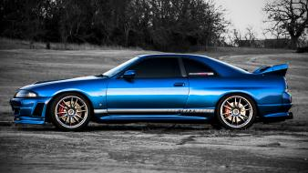 Tuned skyline r33 import car boost awd wallpaper